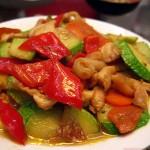 西葫芦炒鸡脯肉