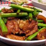 五花肉炒芦笋