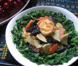李李的滋味-蓬蒿菜炒鱼面筋