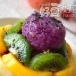 蜜汁紫薯糯米糕