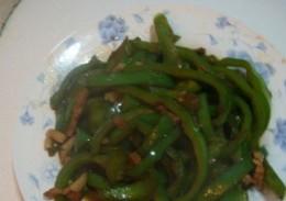 菜椒丝炒肉丝