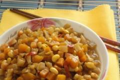 肉皮黄豆咸菜