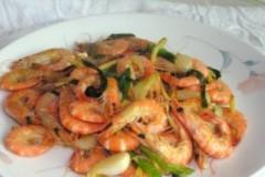 姜葱鲜活野生海虾