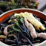 笋肉炒蕨菜