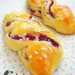 紫薯麻花面包