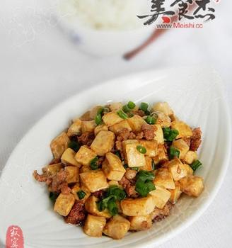 肉末炒豆腐丁