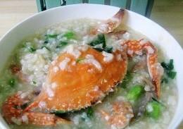 梭子蟹菜粥