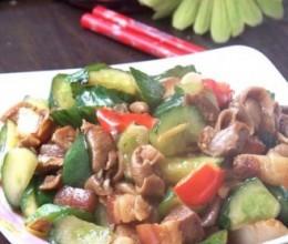 黄瓜炒鲍鱼菇