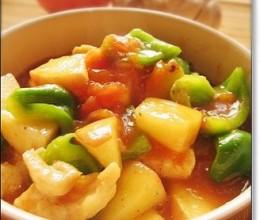 入夏酸甜菜——苹果茄汁鸡
