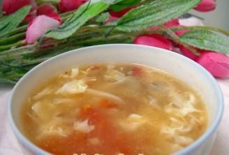 西红柿蘑菇蛋花汤