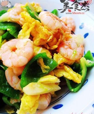 虾仁炒鸡蛋青椒