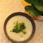 蟹味菇豆腐粥