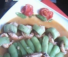 丝瓜铜钱串青虾