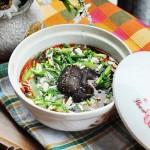 丝瓜紫菜香菇咸蛋汤