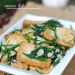 虾皮韭菜烧豆腐