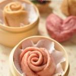 火龙果玫瑰馒头