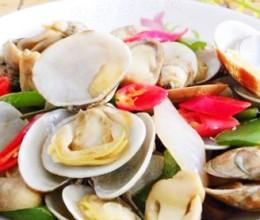 蚝油草菇爆花蛤