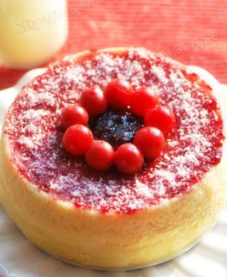 樱桃果酱轻乳酪蛋糕