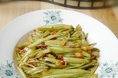 豆瓣酱炒空心菜