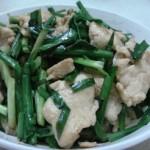 韭菜炒雞胸脯肉