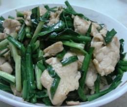 韭菜炒鸡胸脯肉