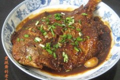 豆瓣酱烧鲳鱼