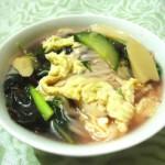 莧菜熱湯面