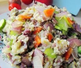 杂疏炒黑白米饭