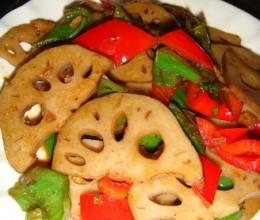 青红椒炒卤藕