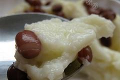 蜜豆蛋清炒牛奶