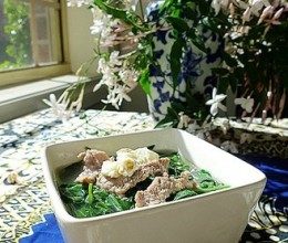 肉丝鸡蛋百花菜汤