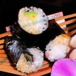 日式双色绝味海苔造型饭团