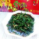 蚝油海米炒韭菜