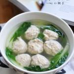 鸡肉丸子青菜汤