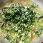 家常配菜菠菜鸡蛋汤