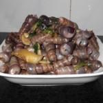 美味姜葱炒海钉螺