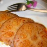 养颜补血的甜品—糯米藕