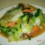 大虾炒大白菜
