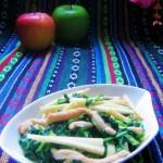 腐乳薺菜炒冬筍