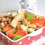彩椒炒豆腐皮结