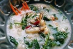 海鲜蒲公英菜疙瘩汤