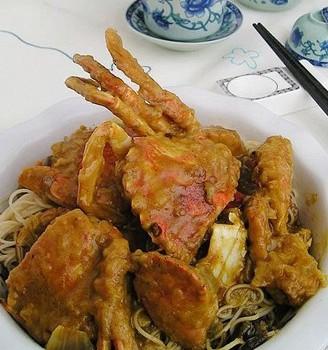 咖喱蟹拌面