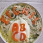 胡萝卜字母菠菜面