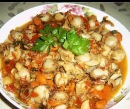 蒜容炒扇贝肉