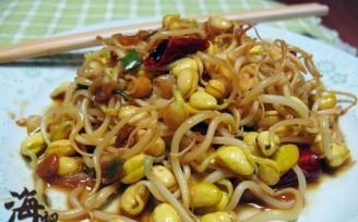 素炒自发豆芽菜