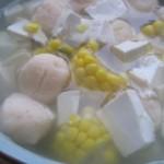 豆腐玉米汤