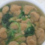 小白菜虾丸子