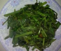 竹叶菜梗炒青椒