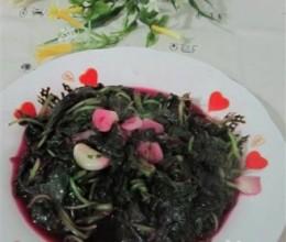 蒜炒红苋菜
