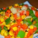青椒炒玉米粒